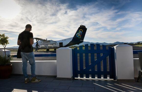 ...Paros airport, departure gate :)