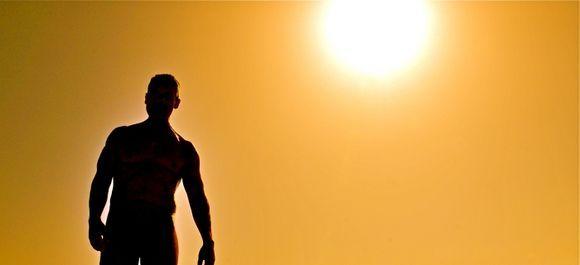 Golden Beach Silhouette