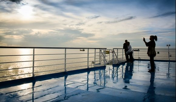 ...sailing to wonderful Greece, leaving the storms behind....