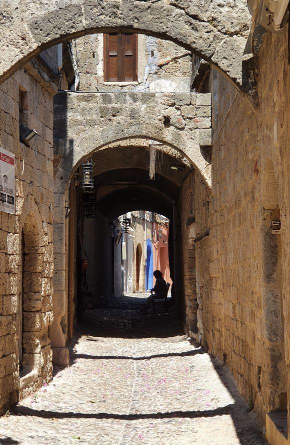 Old street in Rhodes