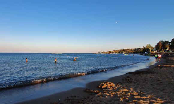 Faliraki beach in the evening