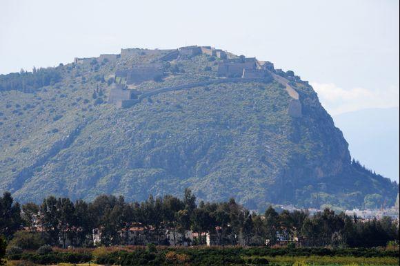 Palamidi Castel seen from Tyrins