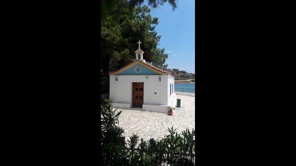A small temple built on the surf of the sea, Agiow Spyridon . Potro Rafti.