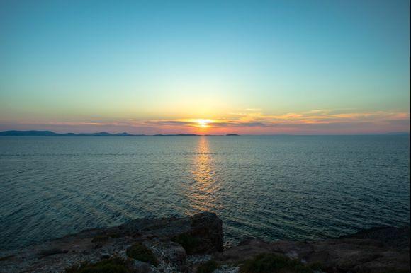 Sunset from Apollo Temple - Portara, Naxos Greek Islands.