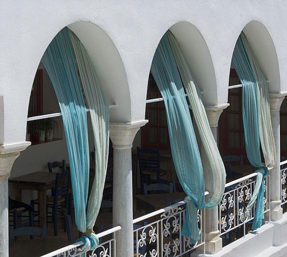 Curtains at Kamares Restaurant