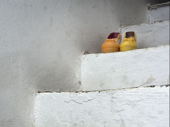 Shoes on stairs