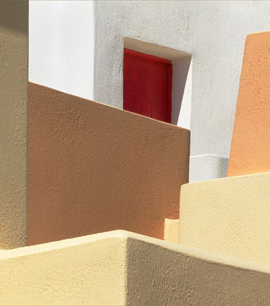Building shapes with red window