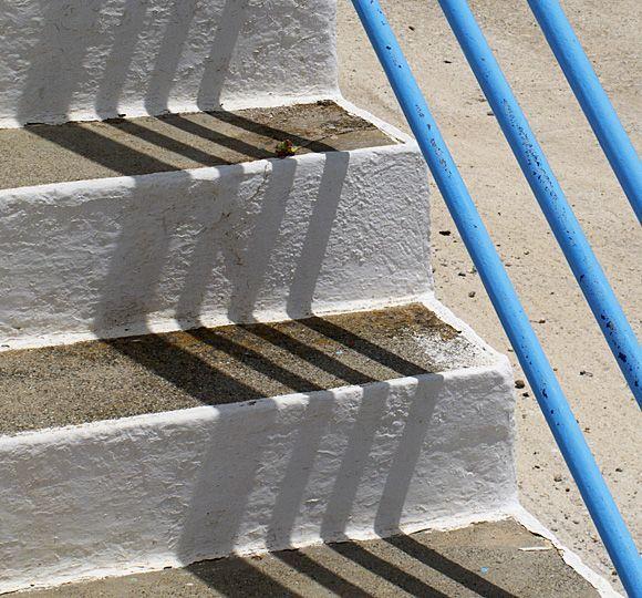 Shadows on stairs, Karavostasi