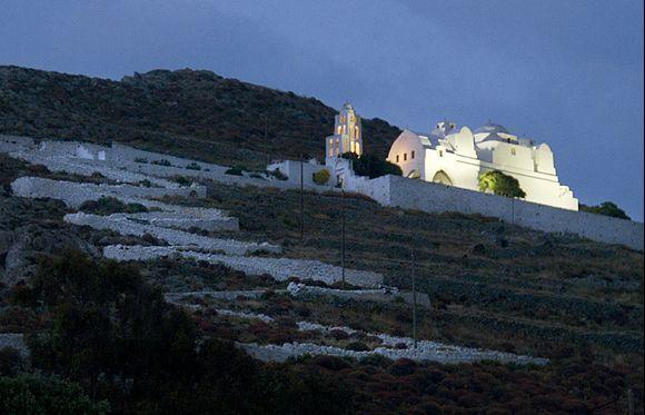 Panagia at night, from Chora.