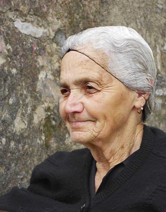 Portrait of a woman in Filoti