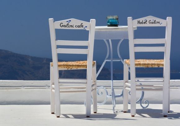 Chairs at Galini Cafe