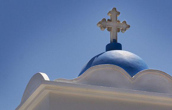 Cross on church in Arkesini