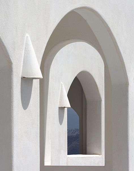 Arches on a house in Akrotiri