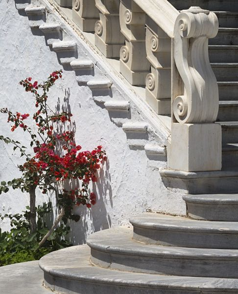 Staircase at the church of Evangelistria.