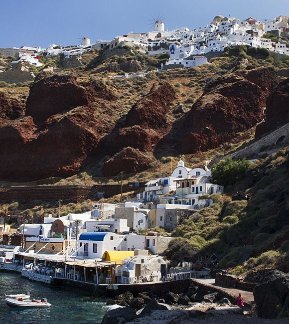 View of Oia from Ammoudi.