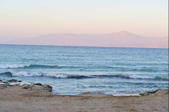 Pastel sunrise, sea and sky
