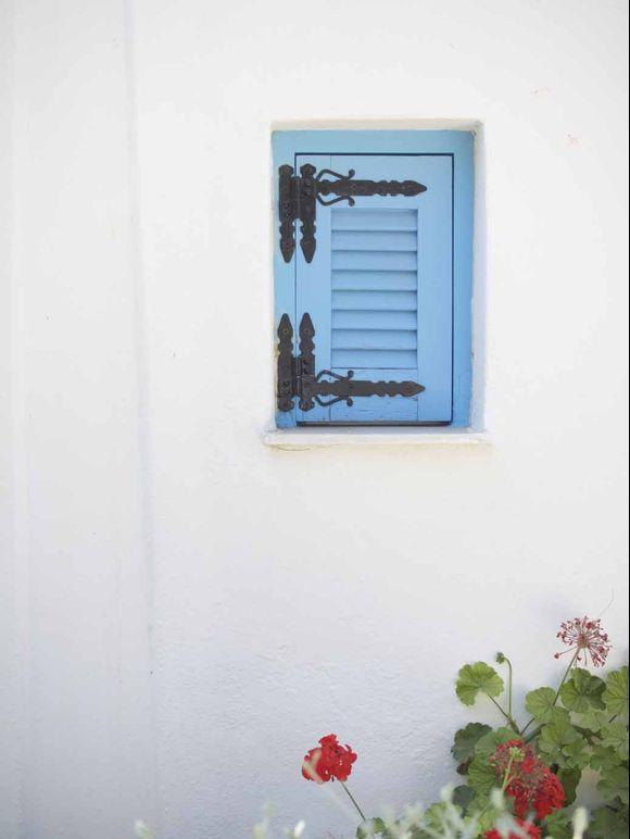 Pretty blue shutters