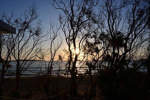 Sunrise from Santa Maria Surf Beach bungalows