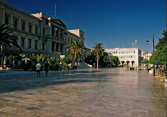 Central square. Ermoupolis, 2008