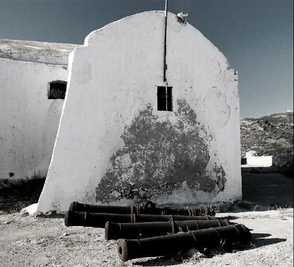 Church with canons. Kythira, 2009