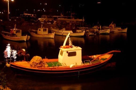 Limnia Port by night