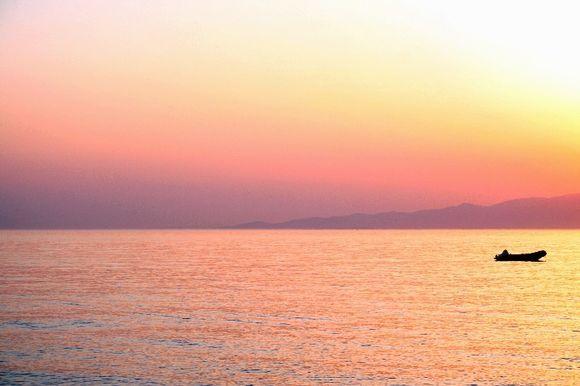 Glyfada beach after Sunset