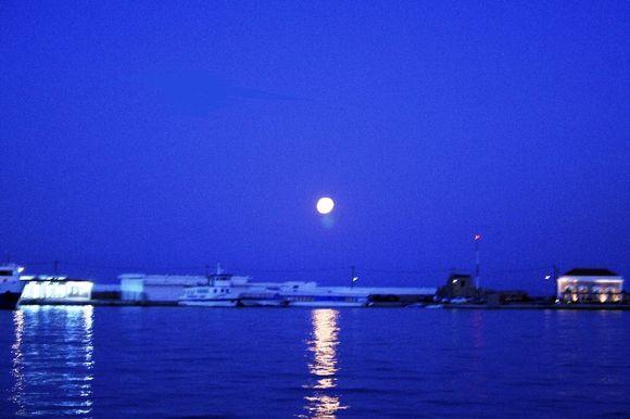 Moonlight in Chios Port