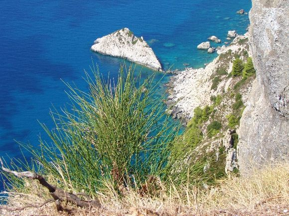 Coast in the west of Corfu.  View from Angelokastro.