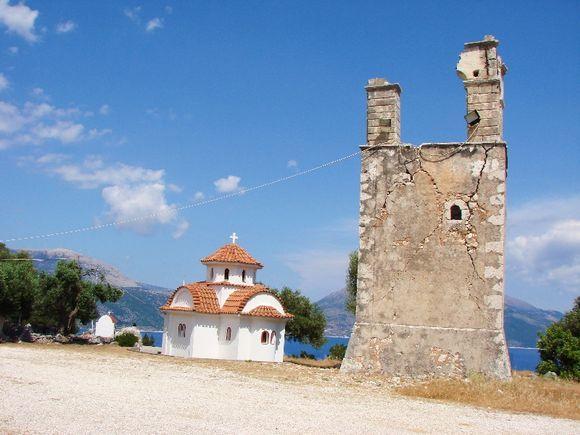 Monastery area of Agrillion, close to Sami and Antisamos Beach