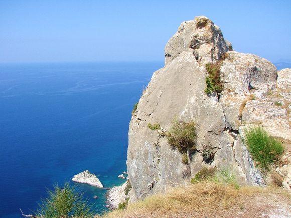 Corfu - Westcoast. Angelokastro.