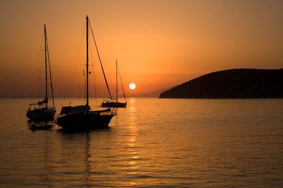 Sunset in Katapola 2