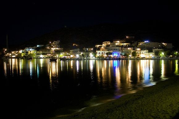 Katapola at night