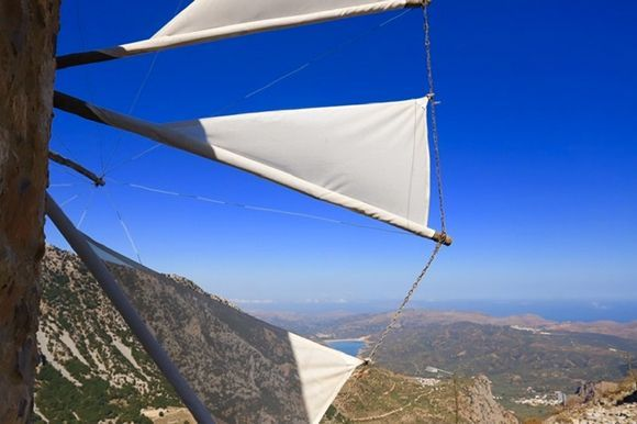 View from Lasithi Plateau towards the Amari Dam Reservoir