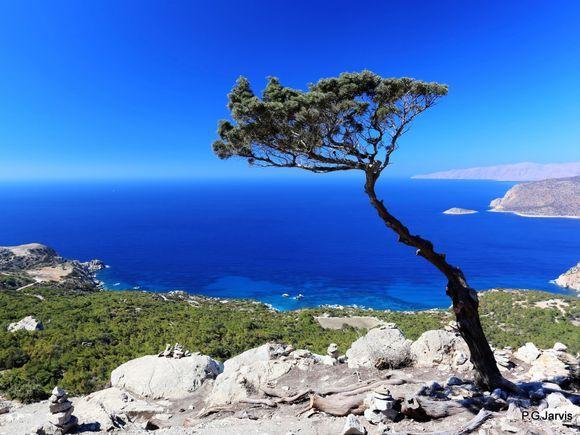 Lovely blue colours at Monolithos Castle Rhodes