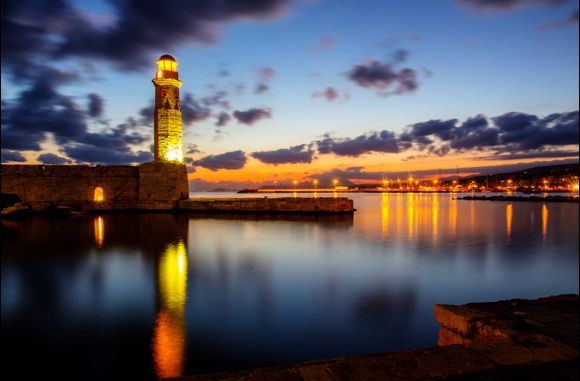 Rethymno. Early morning at the Lighthouse
