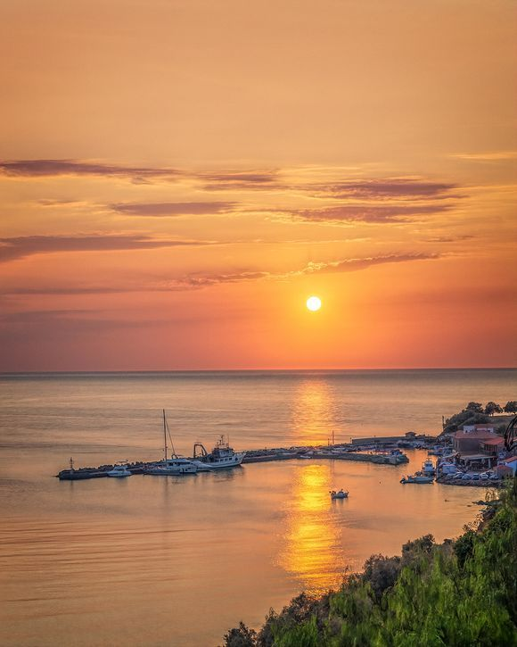 The end of a beautiful day in Molyvos.