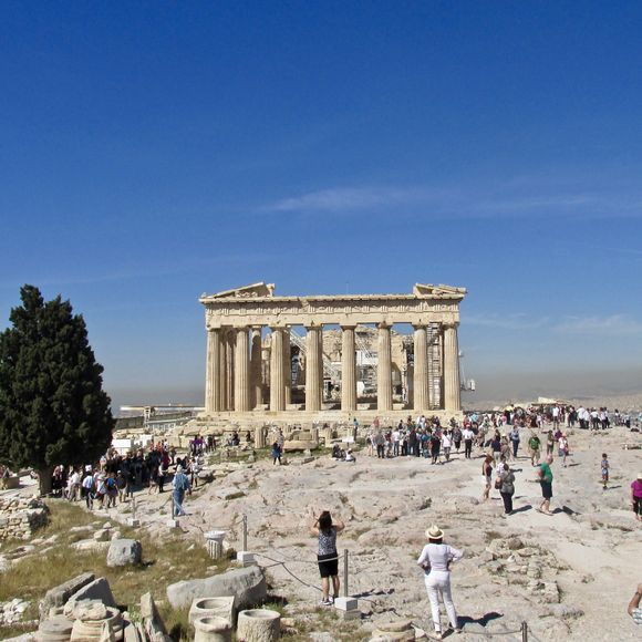 The beautiful, ascetically proportioned Parthenon on the Acropolis. Unbelievably awe-inspiring monument, I  just love being there.