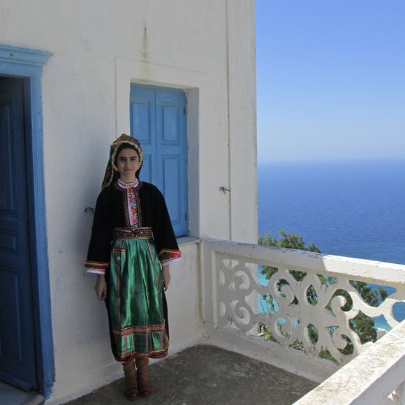 Young Olympos woman, wearing traditional costume.