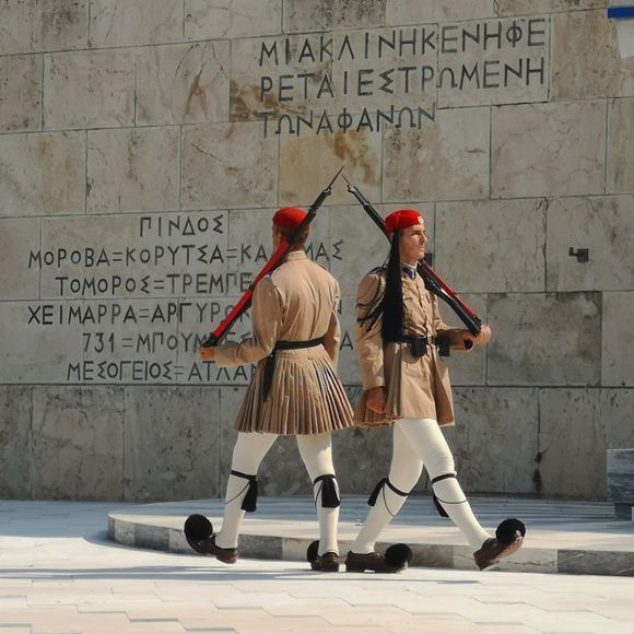 Guarding the Monument of the Unknown Soldier. Syntagma Square, Athens. #respect