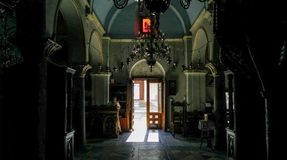 The interior of the monastery