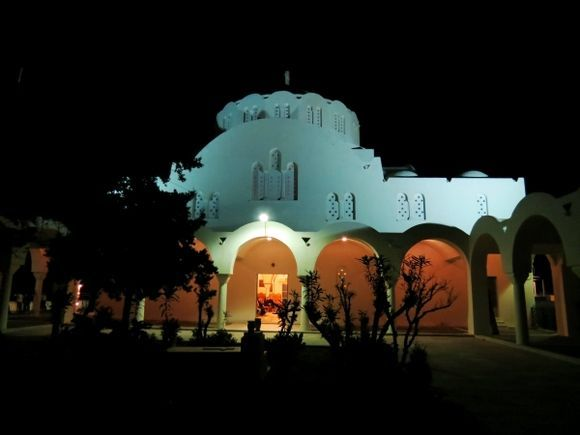 Orthodox Metropolitan Cathedral of Ypapanti by night.