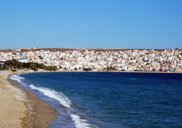 Sitia,view from the beach