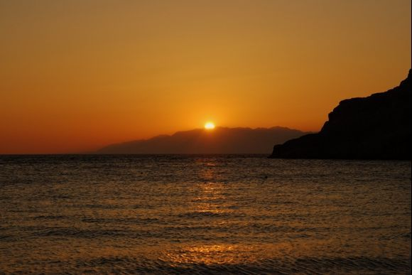 Sunset, Matala Beach
