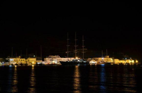 Harbour Katapola by night