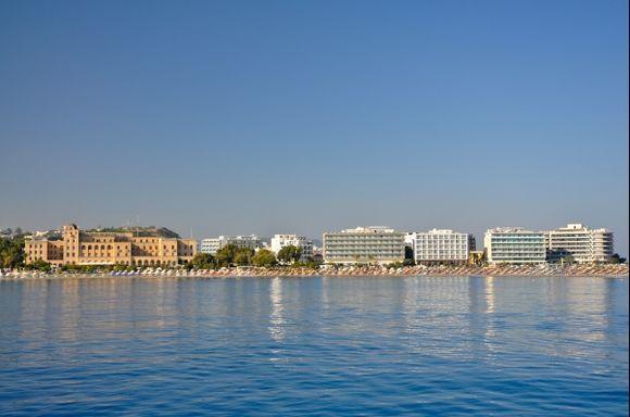 the best beach in Rodos town