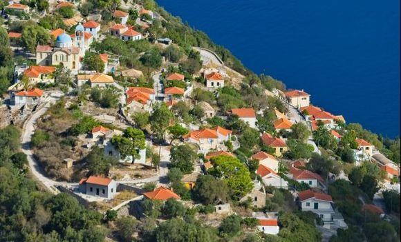 Exogi village from the Monastery at Pernarakia