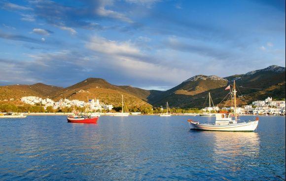 Katapola bay on Amorgos island