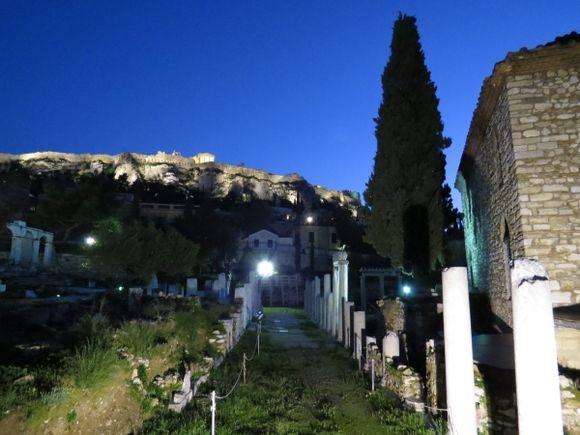 acropolis hill from roman agora