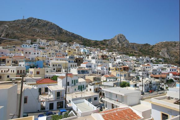 The village of Menetes on Karpathos. I was said that the village takes it names from menete which means stay. People who were leaving the coast after pirates rides were walking in the island