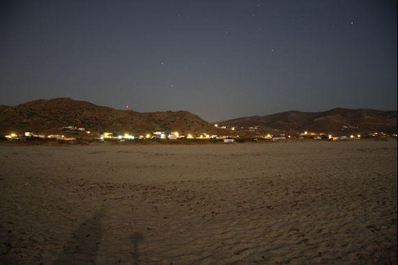 Sahara beach by night